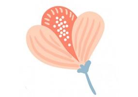 Sticker fleur rose pétales
