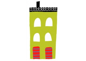 Sticker maison verte