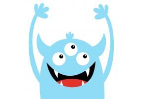 Sticker monstre bleu