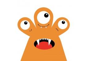 Sticker monstre orange