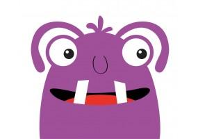 Sticker monstre violet