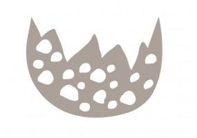 Sticker œuf cassé gris