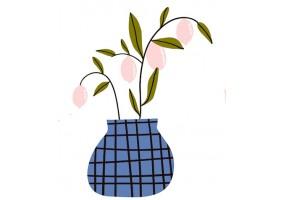 Sticker pot fleur
