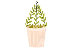 Sticker pot plante