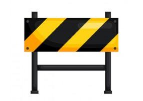 Sticker barrière chantier