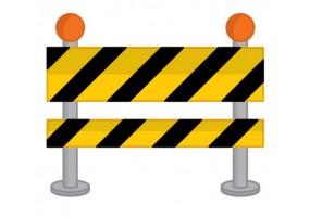 Sticker barrière chantier travaux