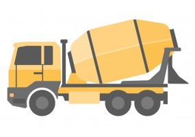 Sticker bétonneuse camion