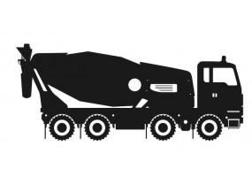 Sticker bétonneuse camion noir