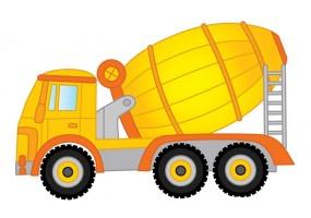 Sticker camion bétonnière