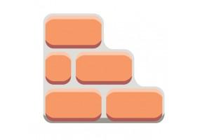 Sticker brique orange