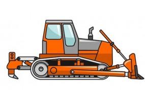 Sticker bulldozer