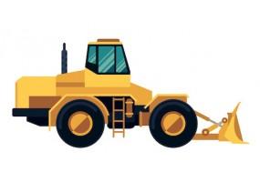 Sticker bulldozer travaux