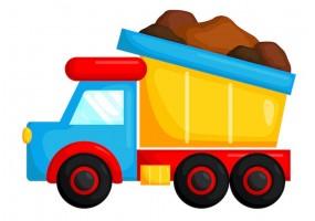 Sticker camion benne