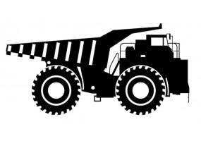 Sticker camion benne noir