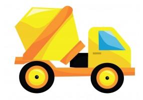 Sticker camion béton