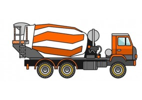 Sticker camion bétonneuse