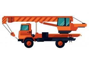 Sticker camion grue orange