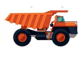 Sticker camion remorque chantier