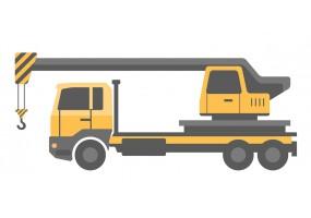 Sticker camion remorque grue