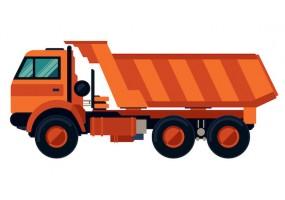 Sticker camion remorque orange
