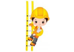 Sticker ouvrier échelle