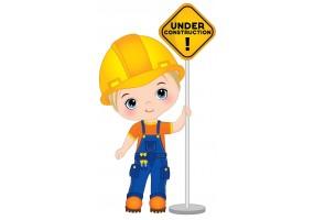 Sticker ouvrier panneau