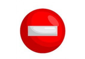 Sticker panneau sens-interdit