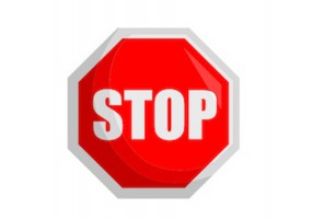 Sticker panneau stop