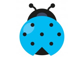 Sticker coccinelle bleue