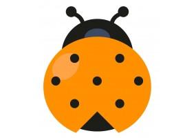 Sticker coccinelle orange