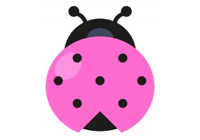 Sticker coccinelle rose