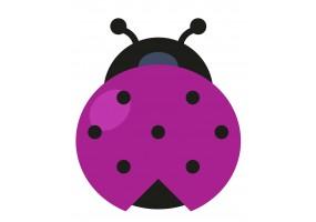 Sticker coccinelle violette