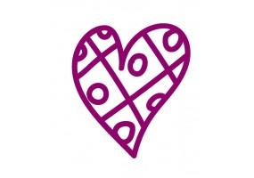 Sticker cœur violet motif