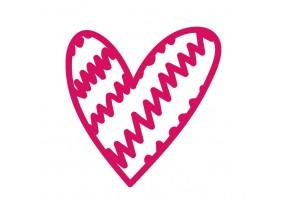 Sticker mural cœur rose motif