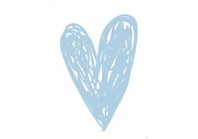 Sticker cœur bleu