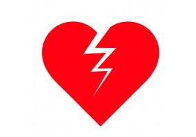 Sticker cœur brisé