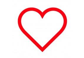 Sticker cœur contour