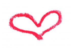 Sticker cœur vdéformé