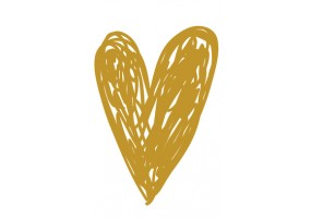 Sticker cœur doré