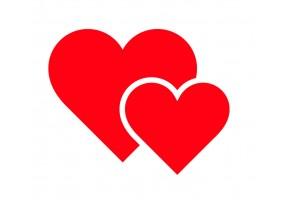 Sticker cœur double