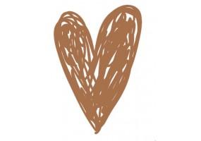 Sticker cœur marron