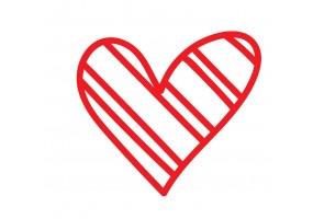 Sticker cœur motif