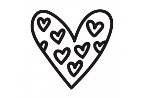 Sticker cœur noir