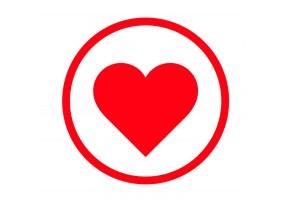Sticker cœur rond