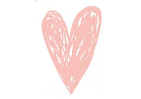 Sticker cœur rose