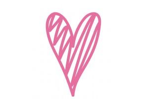 Sticker cœur rose motif