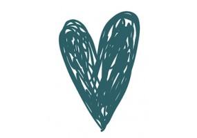 Sticker cœur vert