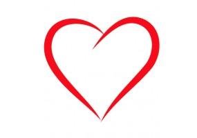 Sticker mural cœur
