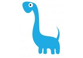 Sticker mural dinosaure bleu