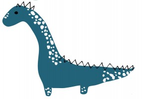 Sticker mural dinosaure